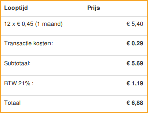 vimexx nl web hosting payment invoice
